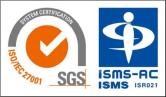 ISO27001(ISMS)審査登録証 JP14/080310